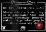 Image of parachute jumpers Moscow Russia Soviet Union, 1934, second 1 stock footage video 65675045241