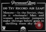 Image of parachute jumpers Moscow Russia Soviet Union, 1934, second 2 stock footage video 65675045241