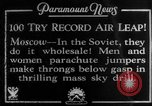 Image of parachute jumpers Moscow Russia Soviet Union, 1934, second 3 stock footage video 65675045241
