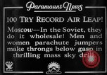 Image of parachute jumpers Moscow Russia Soviet Union, 1934, second 4 stock footage video 65675045241