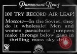 Image of parachute jumpers Moscow Russia Soviet Union, 1934, second 5 stock footage video 65675045241