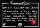 Image of parachute jumpers Moscow Russia Soviet Union, 1934, second 7 stock footage video 65675045241