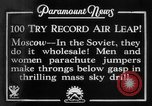 Image of parachute jumpers Moscow Russia Soviet Union, 1934, second 9 stock footage video 65675045241