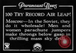 Image of parachute jumpers Moscow Russia Soviet Union, 1934, second 10 stock footage video 65675045241