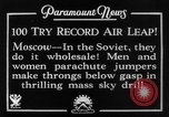 Image of parachute jumpers Moscow Russia Soviet Union, 1934, second 12 stock footage video 65675045241