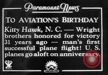 Image of Wright brothers Kitty Hawk North Carolina USA, 1934, second 8 stock footage video 65675045243