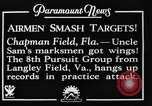 Image of strafing practice Chapman Field Florida USA, 1934, second 9 stock footage video 65675045248