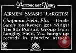 Image of strafing practice Chapman Field Florida USA, 1934, second 12 stock footage video 65675045248