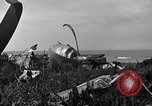 Image of B-29 crash Tinian Island Mariana Islands, 1945, second 9 stock footage video 65675045367