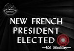 Image of new French President Paris France, 1947, second 1 stock footage video 65675045374