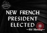 Image of new French President Paris France, 1947, second 2 stock footage video 65675045374