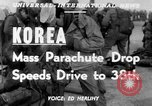 Image of mass parachute drop Korea, 1951, second 2 stock footage video 65675045385