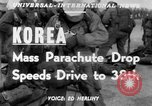 Image of mass parachute drop Korea, 1951, second 4 stock footage video 65675045385