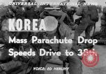Image of mass parachute drop Korea, 1951, second 5 stock footage video 65675045385