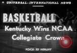 Image of basketball match Minneapolis Minnesota USA, 1951, second 2 stock footage video 65675045388