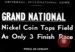 Image of Nickel Coin wins British Grand National Steeplechase  Aintree England United Kingdom, 1951, second 1 stock footage video 65675045393