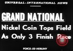 Image of Nickel Coin wins British Grand National Steeplechase  Aintree England United Kingdom, 1951, second 2 stock footage video 65675045393