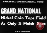 Image of Nickel Coin wins British Grand National Steeplechase  Aintree England United Kingdom, 1951, second 3 stock footage video 65675045393