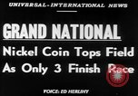 Image of Nickel Coin wins British Grand National Steeplechase  Aintree England United Kingdom, 1951, second 4 stock footage video 65675045393