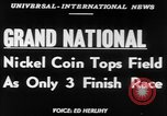 Image of Nickel Coin wins British Grand National Steeplechase  Aintree England United Kingdom, 1951, second 5 stock footage video 65675045393