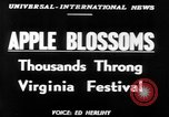 Image of twenty-fourth Shenandoah Apple Festival Winchester Virginia USA, 1951, second 2 stock footage video 65675045397