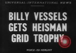 Image of Billy Vessels United States USA, 1952, second 1 stock footage video 65675045419