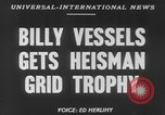 Image of Billy Vessels United States USA, 1952, second 2 stock footage video 65675045419