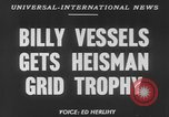 Image of Billy Vessels United States USA, 1952, second 3 stock footage video 65675045419