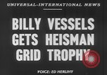 Image of Billy Vessels United States USA, 1952, second 5 stock footage video 65675045419
