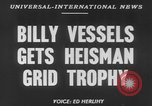 Image of Billy Vessels United States USA, 1952, second 6 stock footage video 65675045419