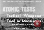 Image of atomic bomb test Camp Desert Rock Nevada USA, 1952, second 1 stock footage video 65675045432