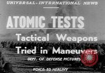 Image of atomic bomb test Camp Desert Rock Nevada USA, 1952, second 2 stock footage video 65675045432