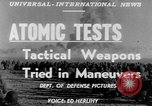 Image of atomic bomb test Camp Desert Rock Nevada USA, 1952, second 4 stock footage video 65675045432