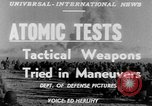 Image of atomic bomb test Camp Desert Rock Nevada USA, 1952, second 5 stock footage video 65675045432