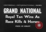 Image of Grand National Steeplechase United Kingdom, 1954, second 1 stock footage video 65675045473