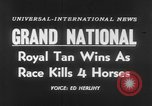 Image of Grand National Steeplechase United Kingdom, 1954, second 4 stock footage video 65675045473