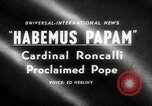 Image of Cardinal Roncalli Vatican City Rome Italy, 1958, second 1 stock footage video 65675045474