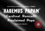 Image of Cardinal Roncalli Vatican City Rome Italy, 1958, second 2 stock footage video 65675045474
