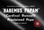 Image of Cardinal Roncalli Vatican City Rome Italy, 1958, second 3 stock footage video 65675045474