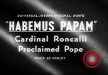 Image of Cardinal Roncalli Vatican City Rome Italy, 1958, second 5 stock footage video 65675045474