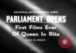 Image of Queen Elizabeth London England United Kingdom, 1955, second 1 stock footage video 65675045475