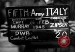 Image of propaganda leaflet bundles World War 2 Italy, 1945, second 7 stock footage video 65675045532