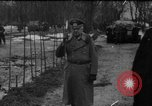 Image of Marshal Erick von Manstein lays wreath on grave of General  Schulz Ukraine, 1944, second 1 stock footage video 65675045585