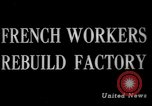 Image of French workers France, 1944, second 5 stock footage video 65675045606