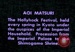 Image of Aoi Matsuri Kyoto Japan, 1937, second 11 stock footage video 65675045638