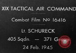 Image of US P-47 strafes train World War II European Theater, 1945, second 1 stock footage video 65675045653