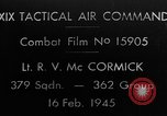 Image of Gun camera footage U.S. P-47 European Theater, 1945, second 1 stock footage video 65675045660