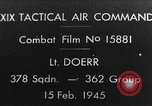 Image of USAAF gun camera footage World War 2 European Theater, 1945, second 1 stock footage video 65675045661