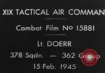 Image of USAAF gun camera footage World War 2 European Theater, 1945, second 3 stock footage video 65675045661