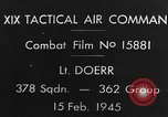 Image of USAAF gun camera footage World War 2 European Theater, 1945, second 5 stock footage video 65675045661